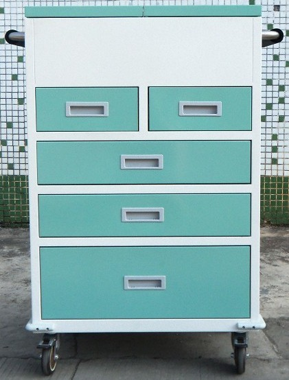 Hospital Steel Mobile Cabinet with Drawers