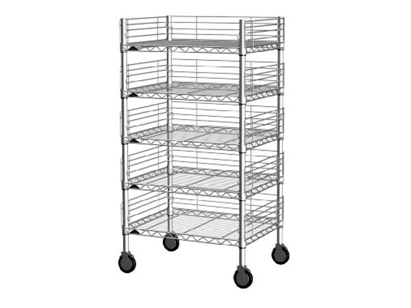 5 layers wire shelving with ledge