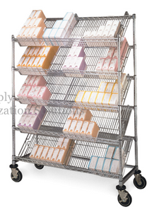 slanted tilt shelving units