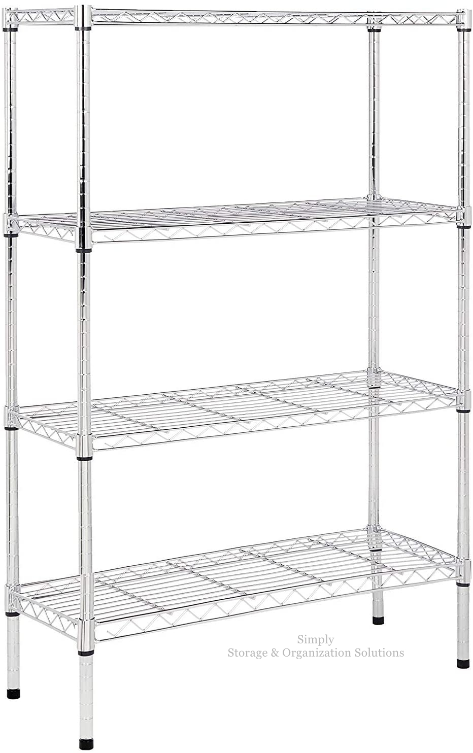 4-Shelf Light Duty Adjustable, Storage Shelving Unit, Steel Organizer Wire Rack, Chrome