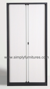tambour door storage steel file cabinet with 4 layers shelf