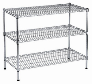 "Pharmacy use 3 shelf 24"" * 24"" heavy duty chrome wire shelving"