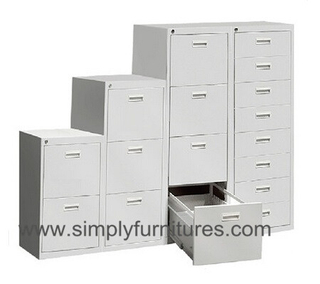 Vertical office file cabinet anti tilt designing