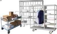 What are the advantages of wire shelving in the medical environment?