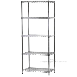 Chrome Wire Shelving Storage Unit With 5 Layer
