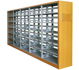 3 Uprights Library Bookshelf (T8-MB3)