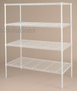 4-layer Universal Wire Rack With Epoxy Powder Coated In White