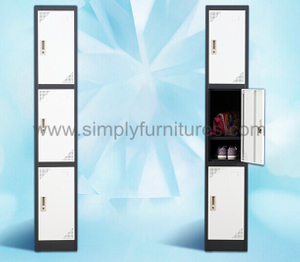 sturdy locker with 3 doors