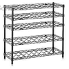 "14""W X 48""D X 30""H Black Wine Wire Rack Large Load Capacity Shelving Unit"
