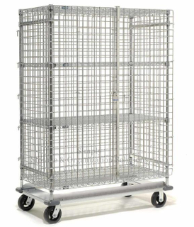 Foldable Stainless Steel Wire Security Storage Truck For Factory Spare Parts Capacity 500-1200kg