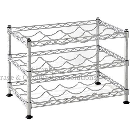 Classics Stackable Storage Holder Bar Display Stand Wine Rack Vintage Wire Metal Shelf