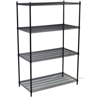 "Vegetable Growing Shelves Storage Rack 4 Shelf Steel Wire Shelving Unit Black 18"" X 42"""