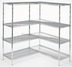Merchandise Storage Add Kit Shelving Large Capacity Chrome Shelving Unit