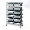 12 Bins Storage New Type Restaurant 7 Shelves Shelving Steel Wire Rack