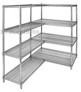 Merchandise Storage Add Extra Kit Shelving Large Capacity Chrome Shelving Unit