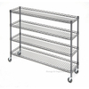 "4 Tier Metal Rolling Cart With Wire Baskets For Retail Storage 5"" X 18"" X 21"""